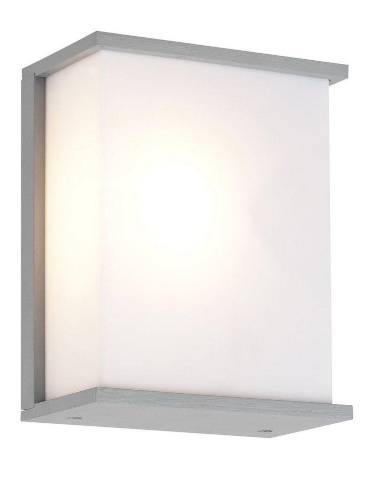 Brilliant Leuchten Außenleuchte, Wandleuchte, 2flg., »CASPAR« in Aluminium, grau