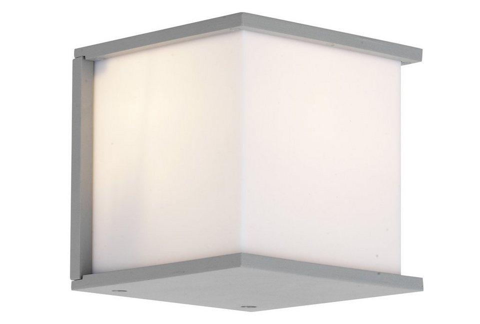 Brilliant Leuchten Außenleuchte, Wandleuchte, 1flg., »CASPAR« in Aluminium, grau