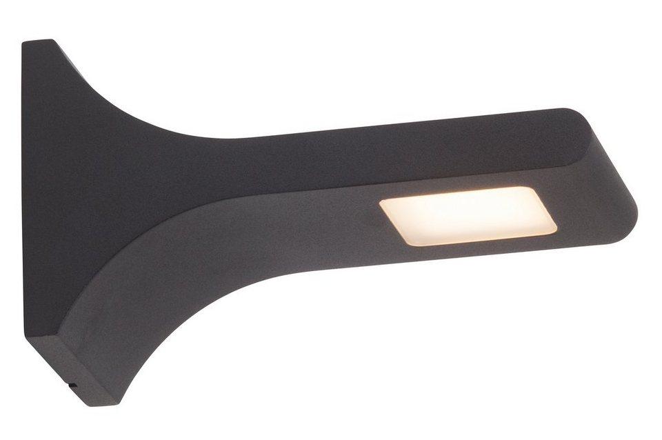 Brilliant Leuchten LED Außenleuchte, Wandleuchte, 1flg., »DEREK« in Metall, anthrazit