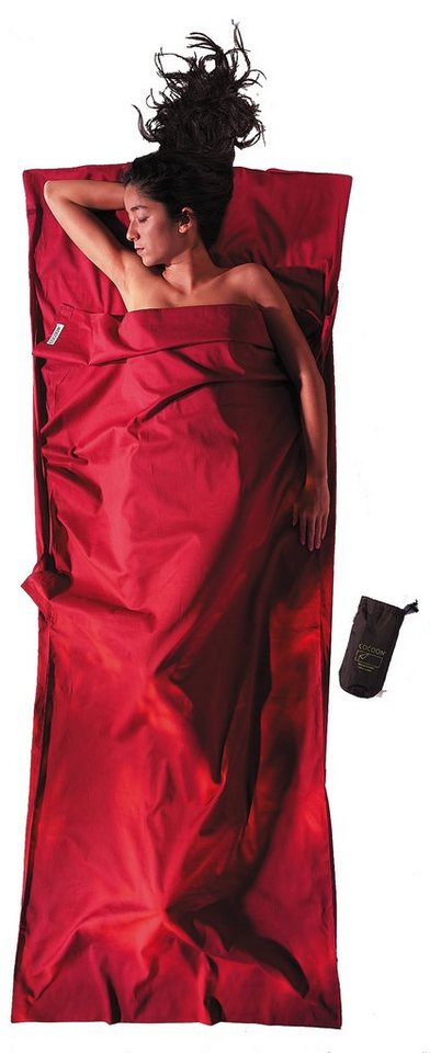 Cocoon Schlafsack »TravelSheet Inlet Cotton« in rot