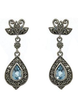 esse Paar Ohrringe aus Blautopas, »Tropfen, L0037E«