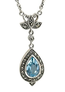esse Halskette Tropfen aus Blautopas, »L0037N«