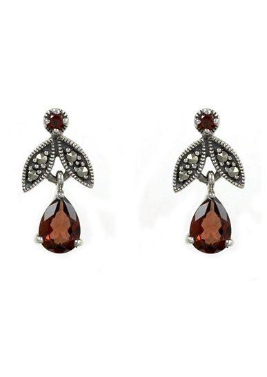esse Paar Ohrringe mit Granat, »Tropfen, L0063E«