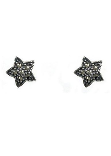 esse Paar Ohrstecker, »Stern, L0081E« in Silber 925/grau