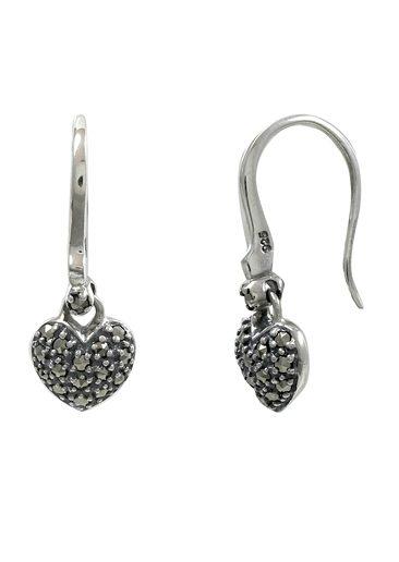 esse Paar Ohrringe mit Markasiten, »Herz, L0069E«