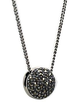 esse Halskette mit Anhänger mit Markasiten, »L0054N« in Silber 925/grau