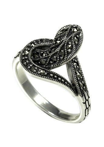 esse Ring mit Markasiten, »Schlange« in Silber 925/grau