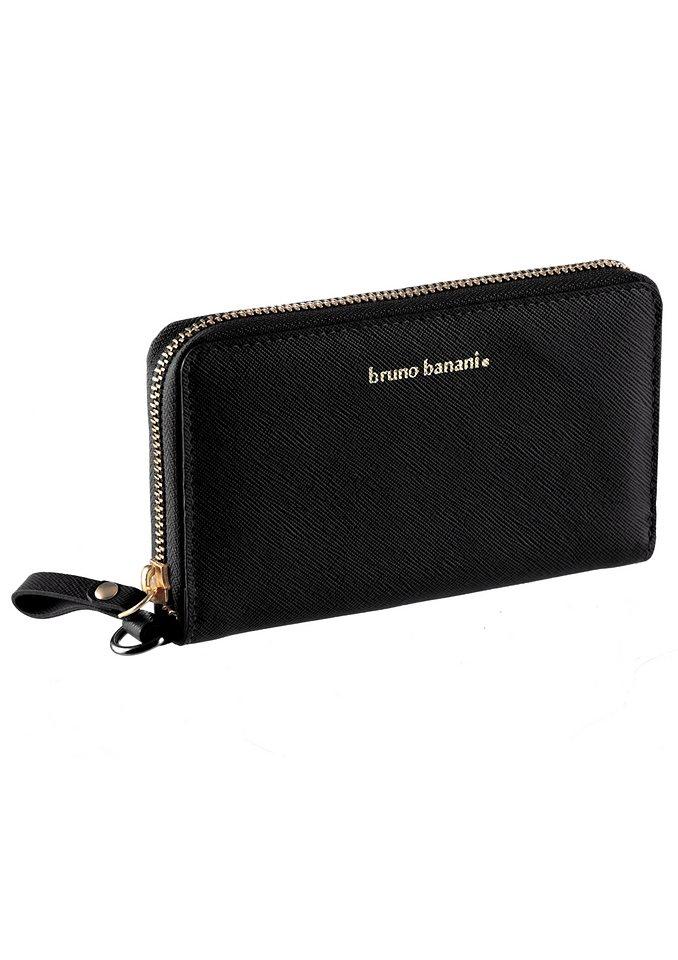 Bruno Banani Geldbörse aus Leder mit Handschlaufe in schwarz