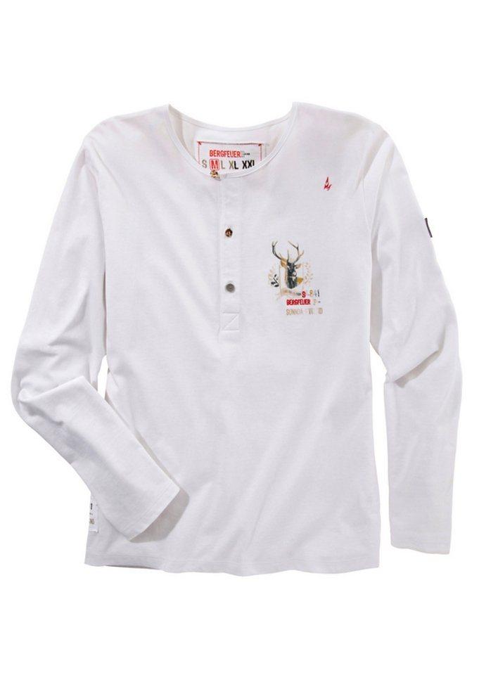 Trachtenshirt, Stockerpoint in weiß