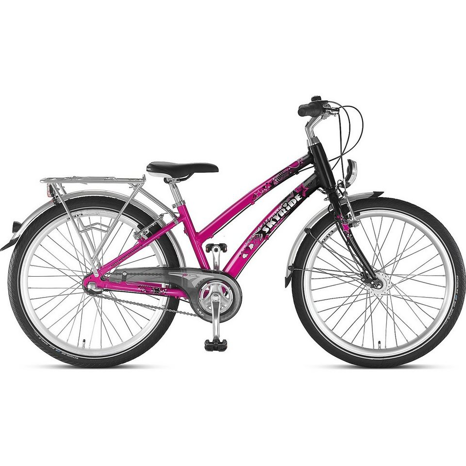 puky fahrrad skyride 24 3 alu 24 zoll pink schwarz. Black Bedroom Furniture Sets. Home Design Ideas