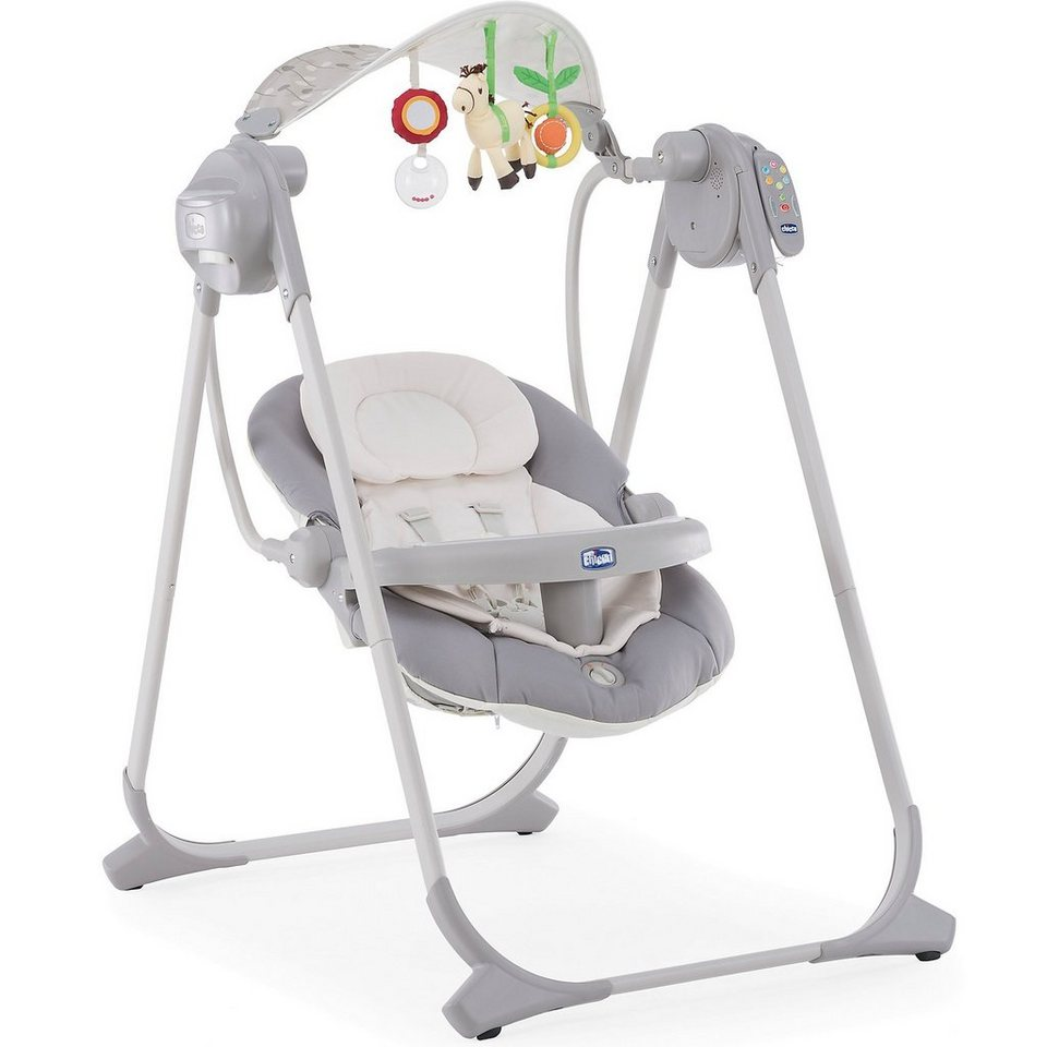 CHICCO Babyschaukel Polly Swing Up, silver in grau