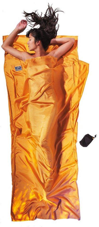 Cocoon Schlafsack »TravelSheet Inlet Silk« in gelb