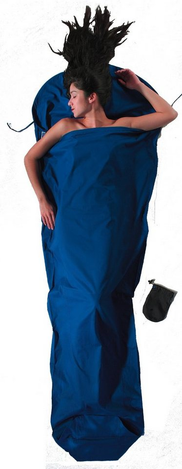 Cocoon Schlafsack »MummyLiner Inlet Cotton« in blau