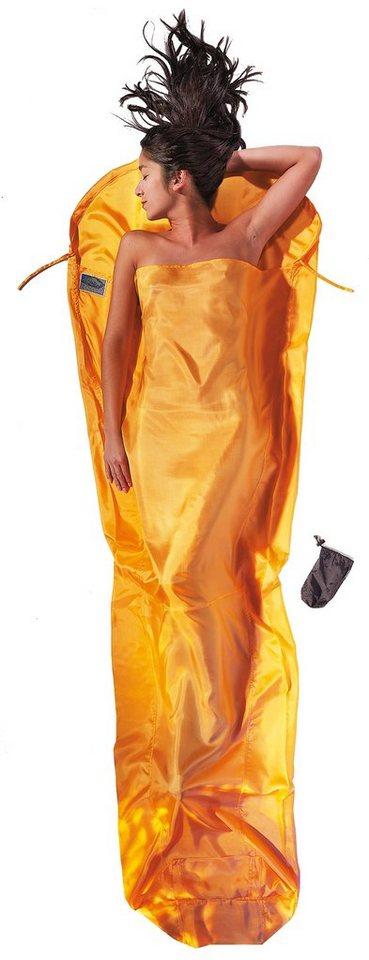 Cocoon Schlafsack »MummyLiner Inlet Silk« in gelb
