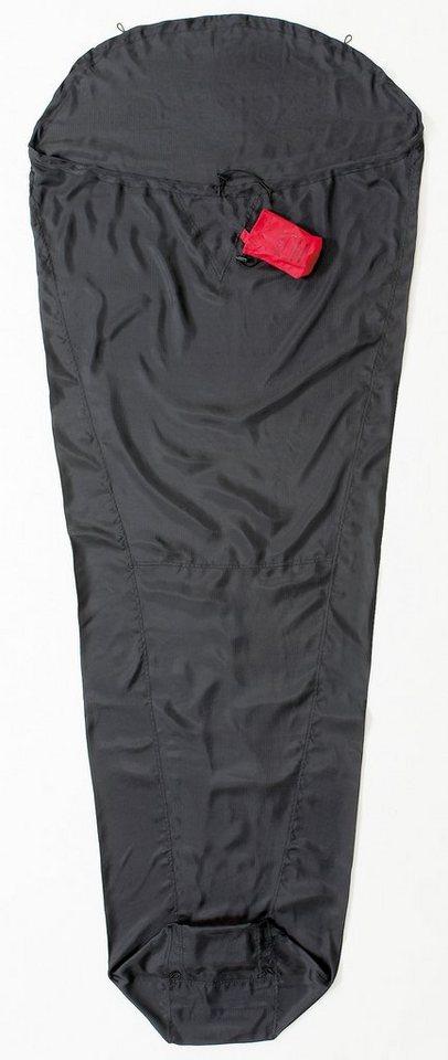 Cocoon Schlafsack »Expedition MummyLiner Inlet Ripstop Silk Regular« in schwarz