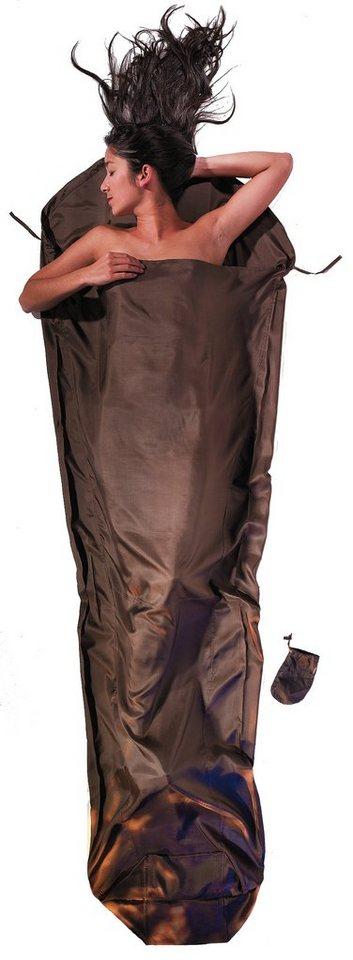 Cocoon Schlafsack »MummyLiner Inlet Silk« in braun