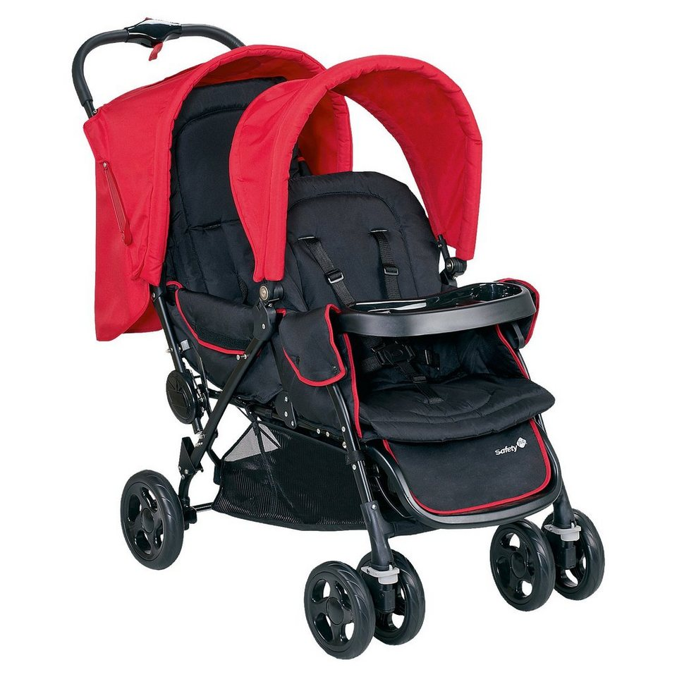 Safety 1st Geschwisterwagen Duodeal, Plain Red, 2017 in rot