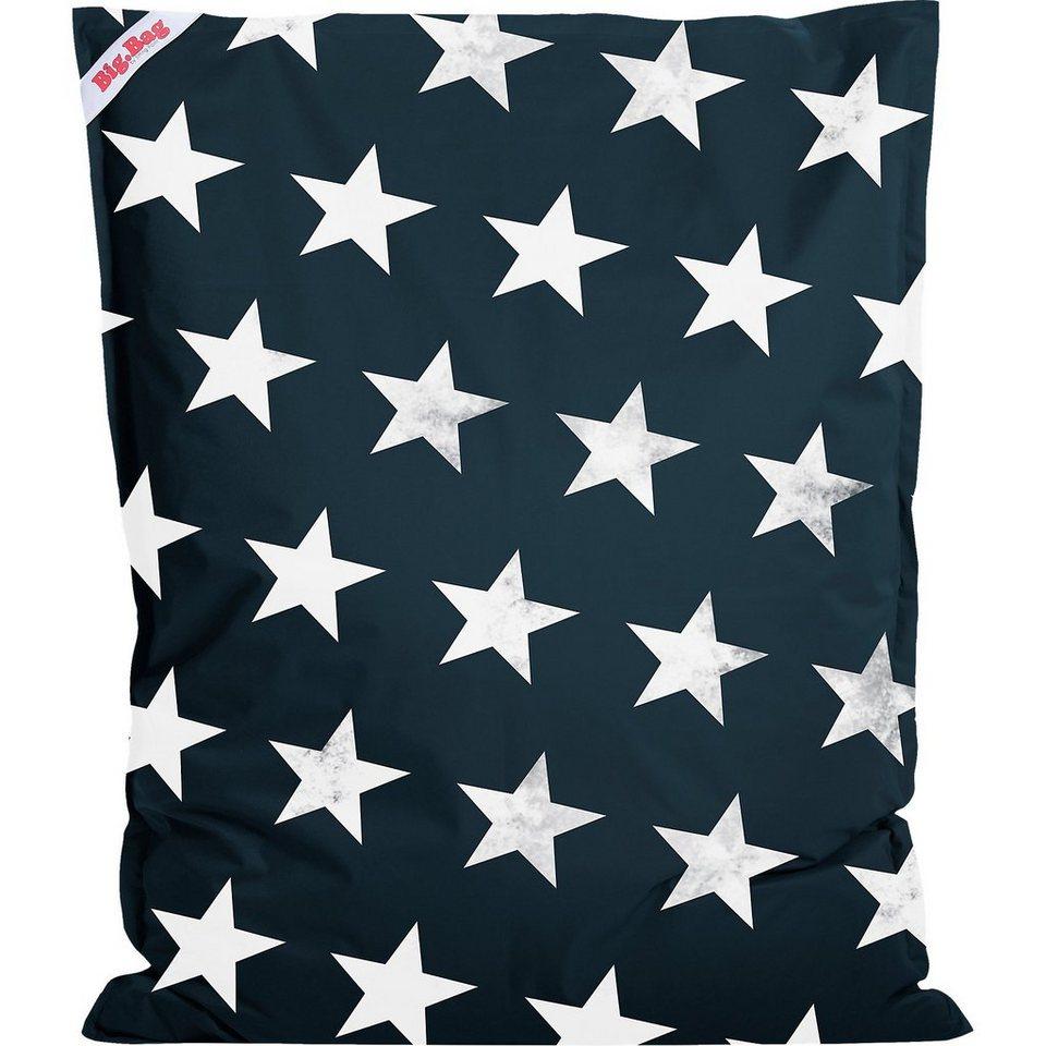 Sitting Point Sitzsack BigBag STARS, 130 x 170 cm, jeansblau in dunkelblau