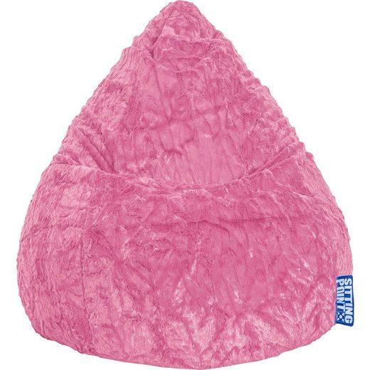 Sitting Point Sitzsack BeanBag FLUFFY L, 70 x 90 cm, pink