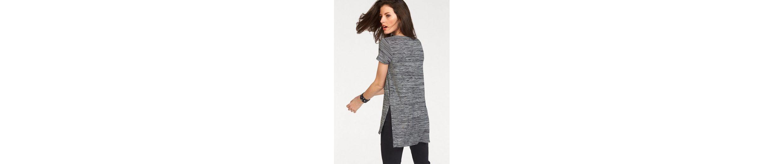 Ausschnitt Rundhals Aniston Aniston mit Longshirt Longshirt H8PnqwXB