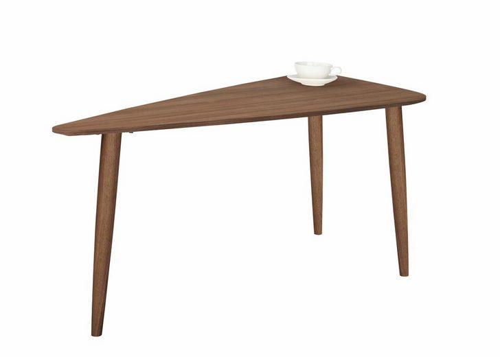 PBJ Couchtisch »Jib«, walnut massiv, mit segelförmiger Tischplatte in zwei Höhen