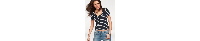 Aniston T-Shirt, im Marine-Look