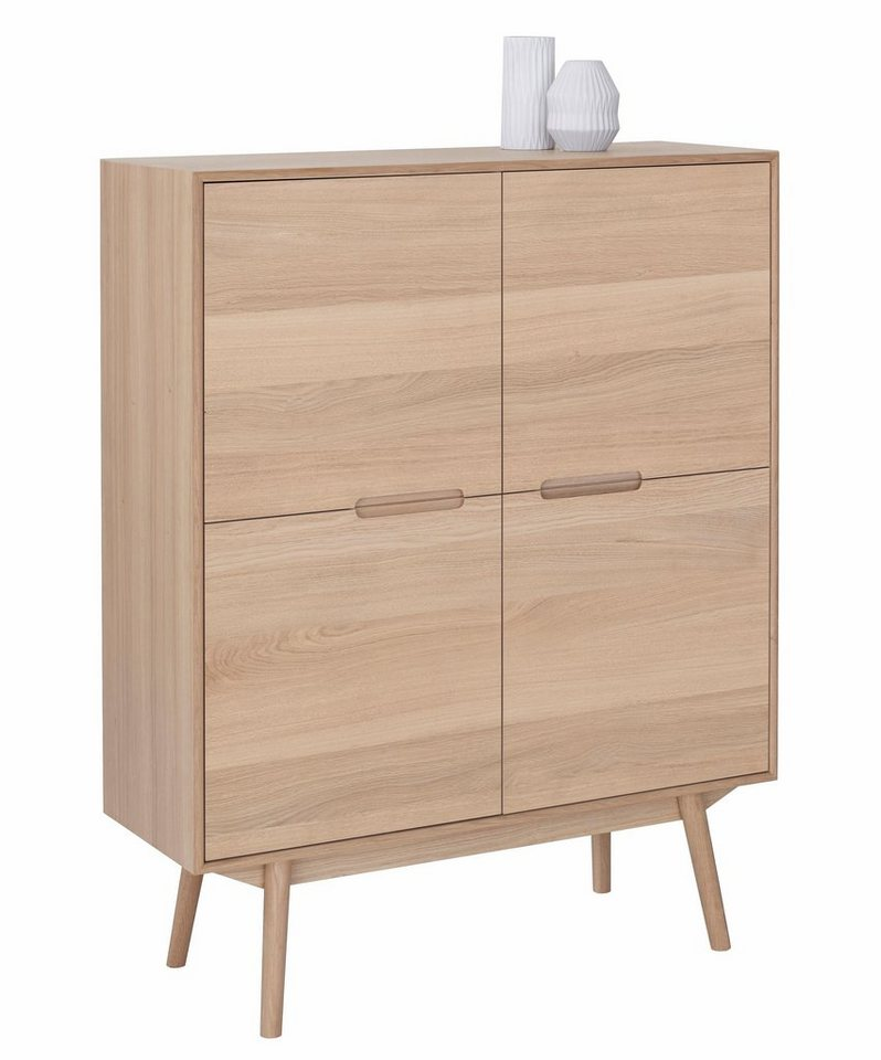 Andas Highboard Curve White Oak Im Nordischen Design