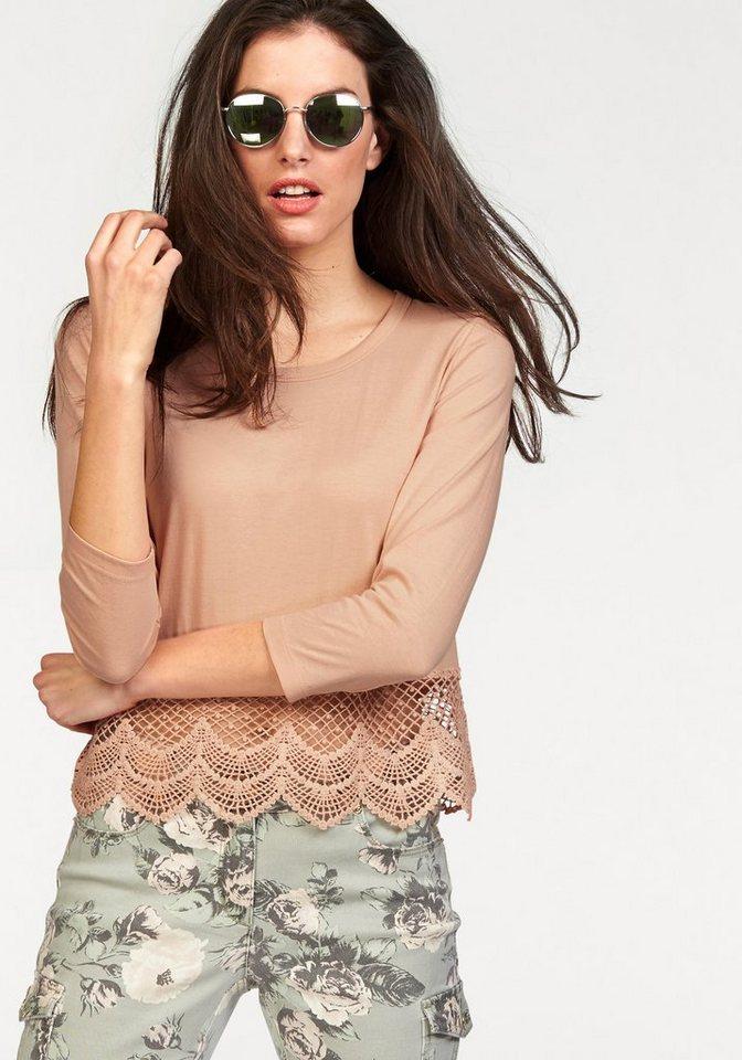 Aniston 3/4-Arm-Shirt in pfirsich
