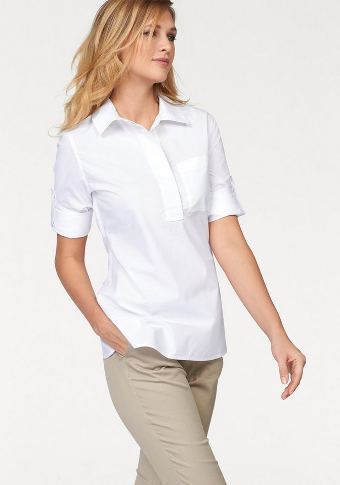 Corley Hemdbluse in weiß