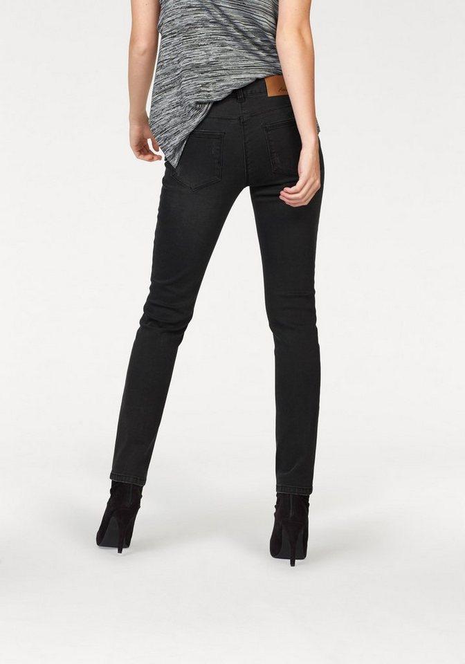 Aniston Röhrenjeans mit Destroyed-Effekten in black