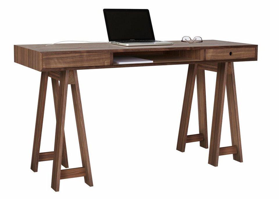 Eckschreibtisch design  andas Schreibtisch »Loft«, Nordic Design in walnut | OTTO