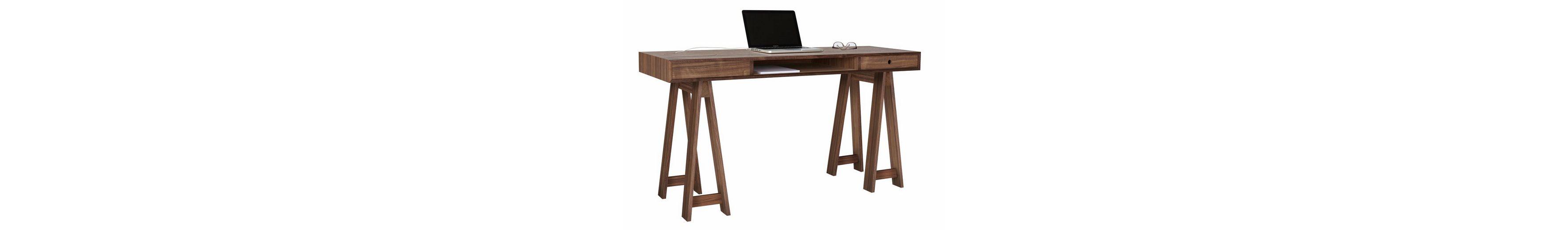 andas Schreibtisch »Loft«, Nordic Design in walnut