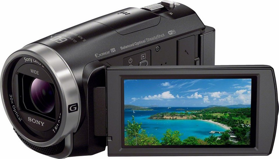 Sony HDR-CX625B Handycam 1080p (Full HD) Camcorder, WLAN, NFC in schwarz