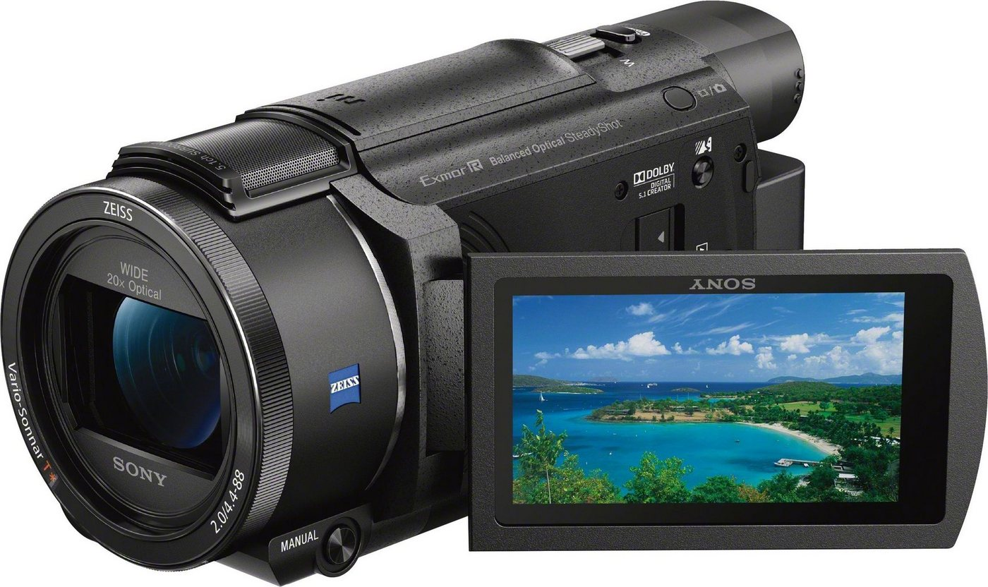 Camcorder - Sony »FDR AX53« Camcorder (4K Ultra HD, NFC, WLAN (Wi Fi), 20x opt. Zoom, fernsteuerbar über Smartphone, Multi Camera Control)  - Onlineshop OTTO