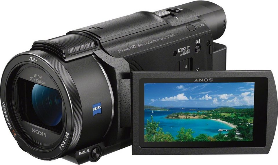 Sony FDR-AX53 Handycam 4K (Ultra-HD) Camcorder, WLAN, NFC in schwarz