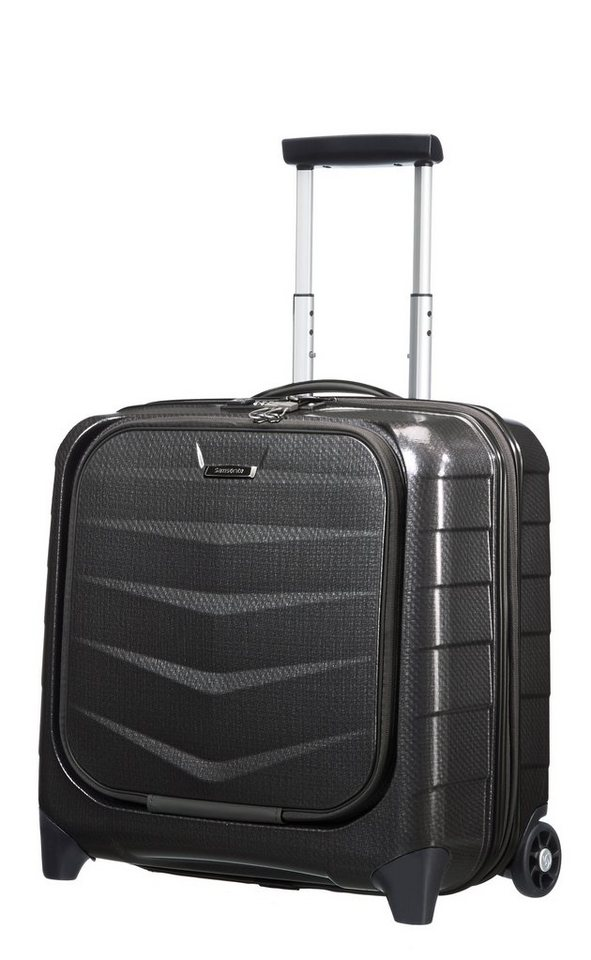 Samsonite Hartschalen Businesstrolley mit 15,6-Zoll Laptopfach und 2 Rollen, »Lite-Biz« in black