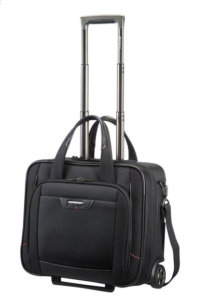 Samsonite Businesstrolley mit 2 Rollen, Schultergurt, Tablet- und Laptopfach, »Pro-DLX 4« in schwarz