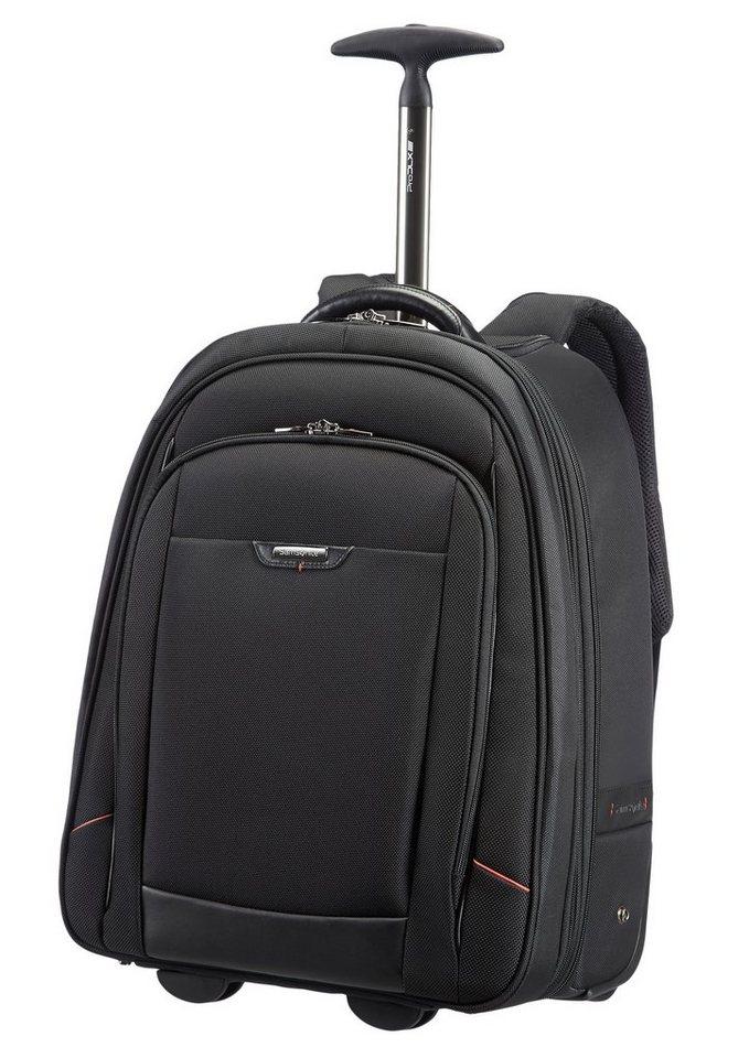 Samsonite Rucksacktrolley mit 2 Rollen, TSA-Schloss und 17,3-Zoll Laptopfach, »Pro-DLX 4« in schwarz