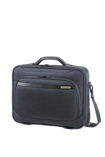 Samsonite Businesstasche mit Schultergurt, Laptop- und Tabletfach, »Vectura« | Taschen > Business Taschen > Sonstige Businesstaschen | Grau | Polyester | Samsonite