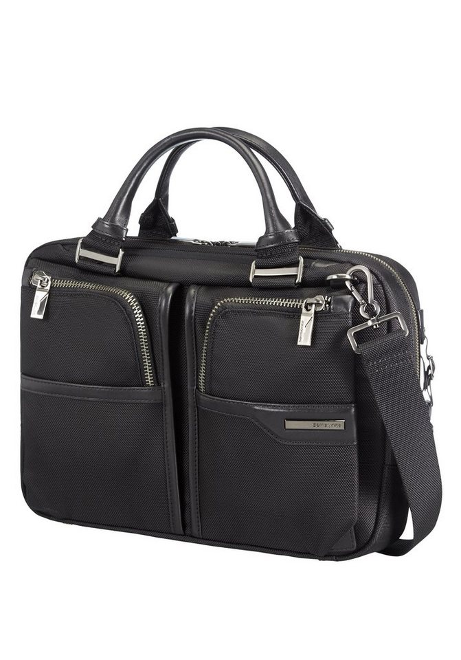 Samsonite Businesstasche mit Trolley-Aufsteck-System, Laptop- und Tabletfach, »GT Supreme« in black/black