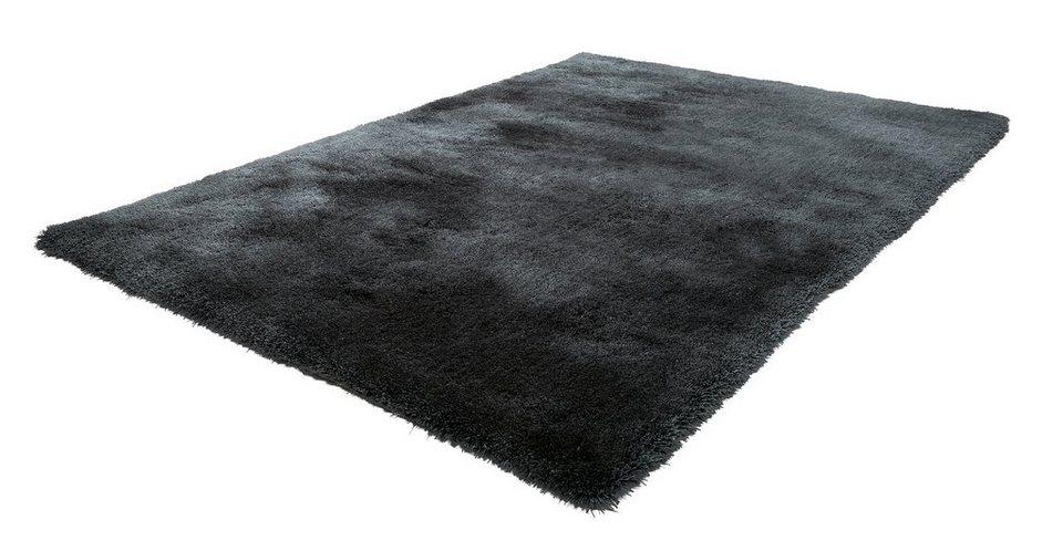 Hochflor-Teppich, Obsession, »Oasis 660«, Höhe 40 mm, handgetuftet in graphit