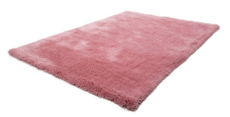 Hochflor-Teppich, Obsession, »Oasis 660«, Höhe 40 mm, handgetuftet in rosa