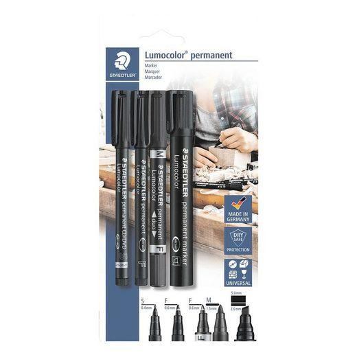 STAEDTLER 4er-Pack Permanent-Marker »Lumocolor permanent«