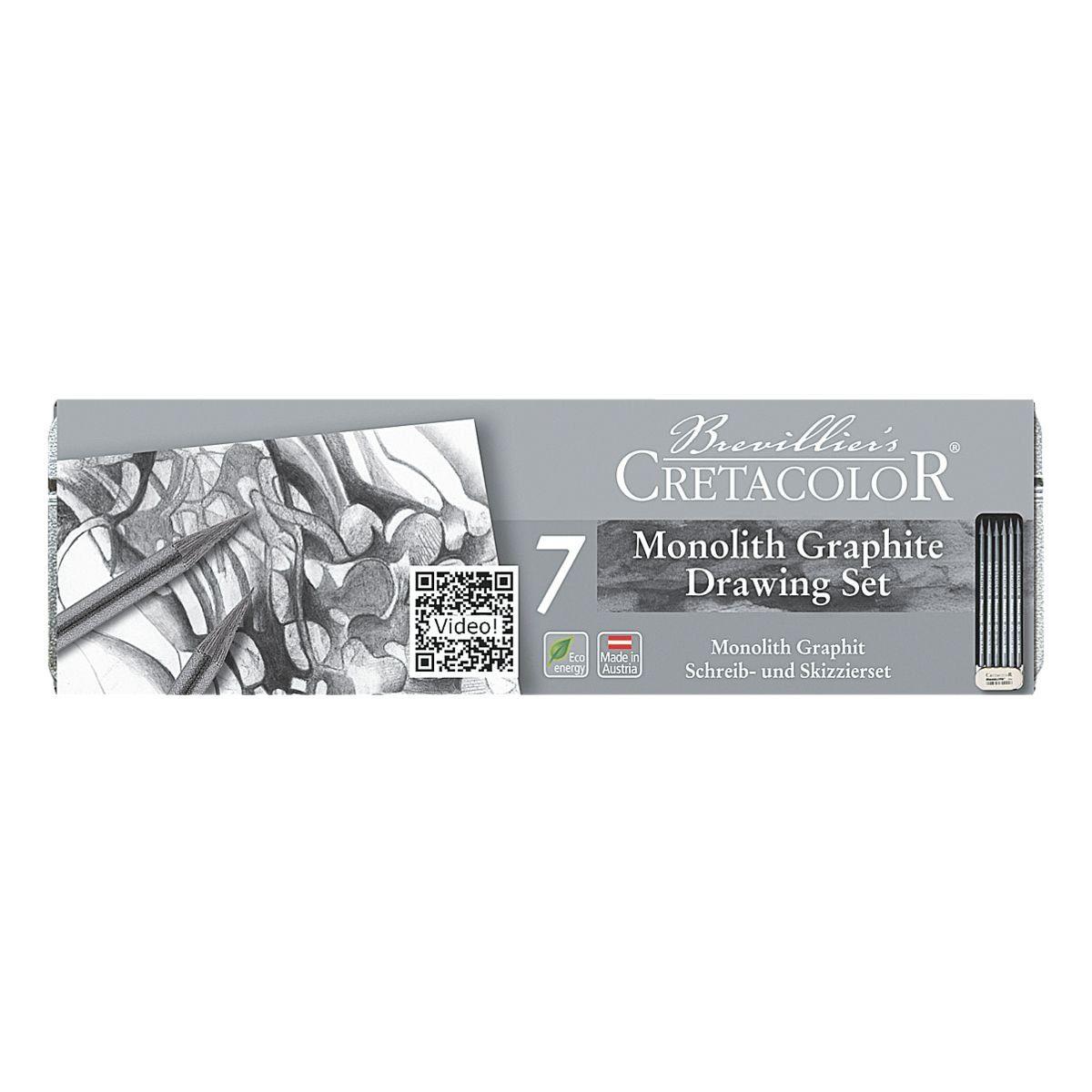 Brevilliers Cretacolor Schreib- und Skizzierset »Monolith«