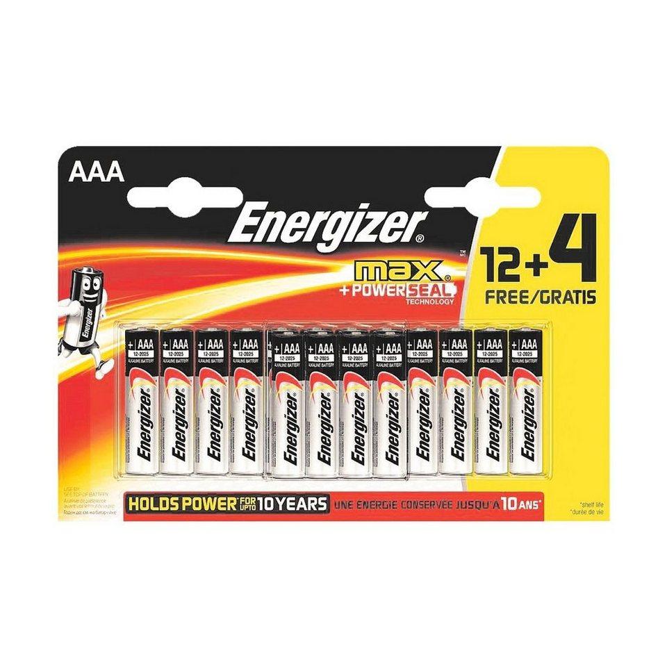 Energizer 16er-Pack Batterien »Max Alkaline« Micro / AAA / LR03