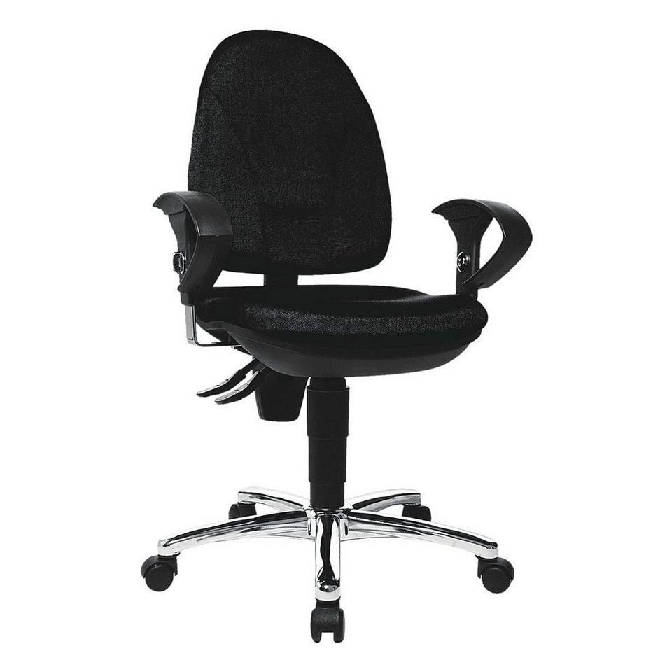 Topstar Bürostuhl »Point 30« mit Armlehnen in schwarz