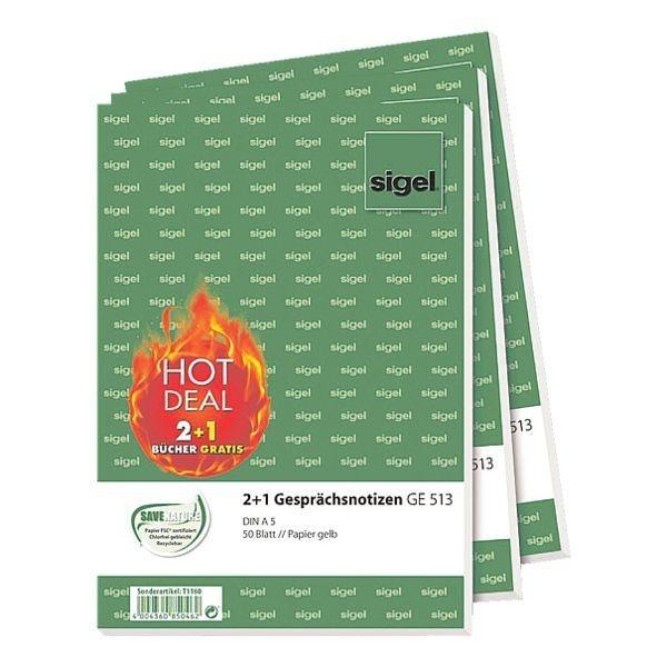 Sigel 3x Formularvordrucke »Gesprächsnotiz«