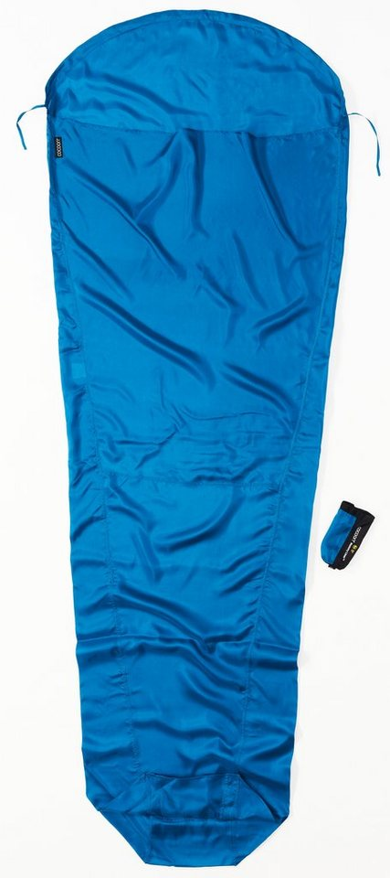 Cocoon Schlafsack »MummyLiner Inlet Silk« in blau