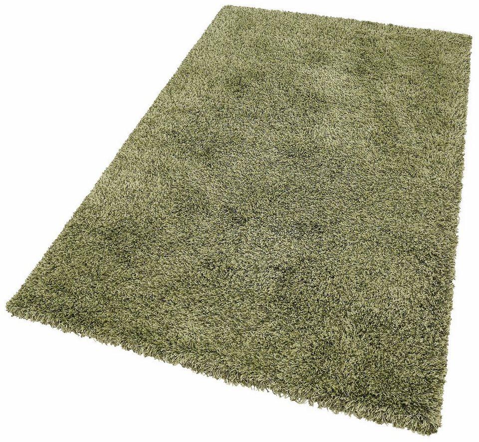 Hochflor-Teppich, merinos, »Denver«, Höhe 50 mm, gewebt in grün