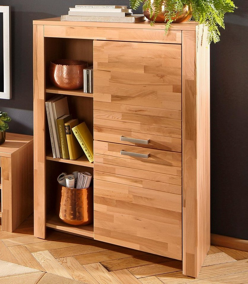 Home affaire Highboard »Livigno«, Breite 84 cm in kernbuche